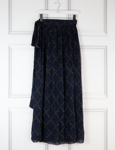 My Wardrobe Mistakes 12UK-44IT-4OFR / Multicolour ISABEL MARANT ETOILE Two layers Wrap maxi skirt