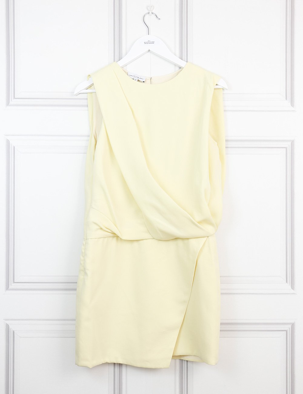 Narciso Rodriguez yellow sleeveless draped dress 10Uk- My Wardrobe Mistakes