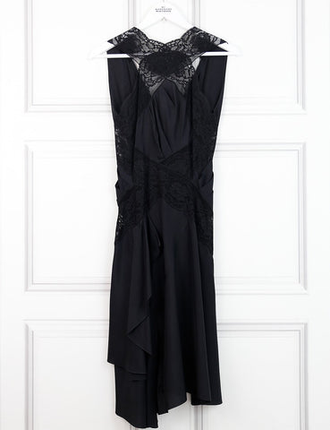 Nina Ricci black sleeveless dress with lace 10 UK- My Wardrobe Mistakes