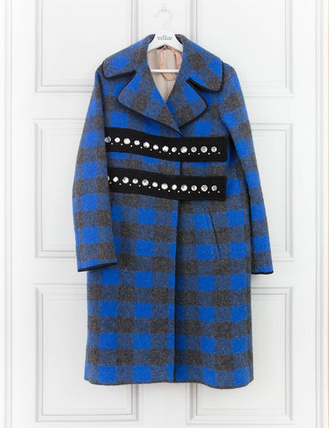 NUMERO 21 CLOTHING Embellished Checked Coat