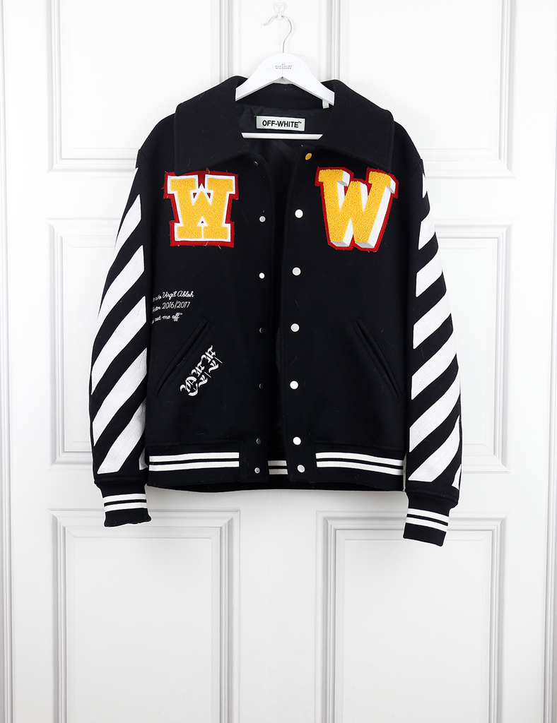 OFF WHITE CLOTHING Off White bomber jacket with logo on the back- My Wardrobe Mistakes