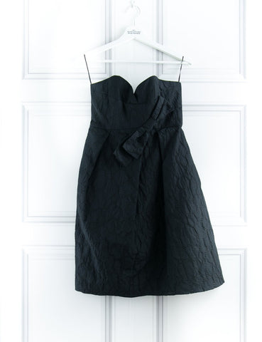 PAULE KA CLOTHING Strapless black dress 12UK- My Wardrobe Mistakes
