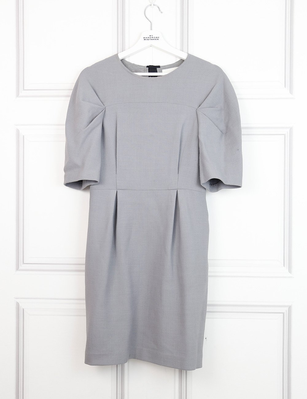 Phillip Lim grey mid-length classic dress with beautiful details at the back 10UK- My Wardrobe Mistakes