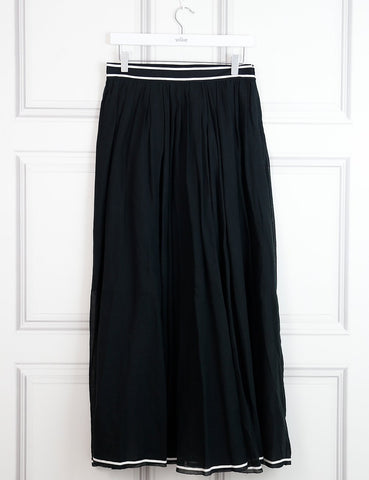 Philosophy black cotton muslin midi skirt 10 UK- My Wardrobe Mistakes