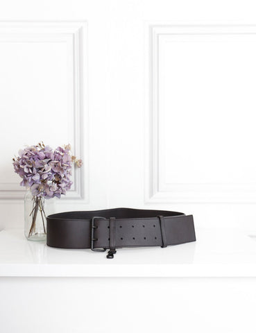 Prada dark brown large belt 95 cm- My Wardrobe Mistakes