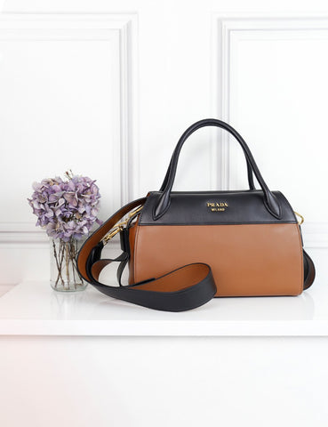 Prada bicolour Bauletto city calf bag- My Wardrobe Mistakes