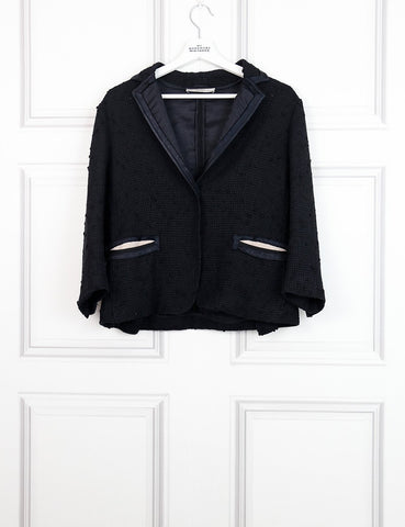 Prada black jacket with contrasting pockets and collar 12UK- My Wardrobe Mistakes