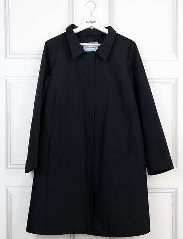 Prada black trench coat 12UK- My Wardrobe Mistakes
