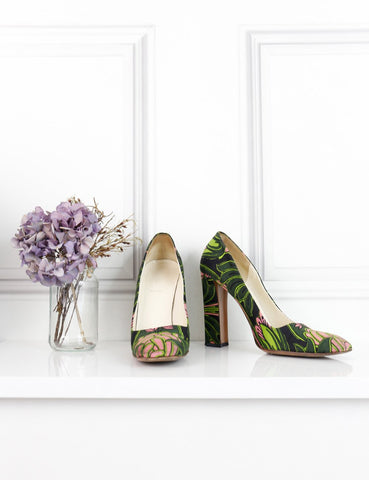 Prada multicolour silk pumps limited edition Holliday&Brown 7UK- My Wardrobe Mistakes