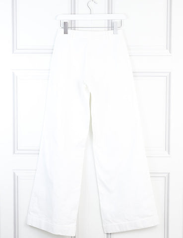 Pringle white wide-leg trousers 8Uk- My Wardrobe Mistakes