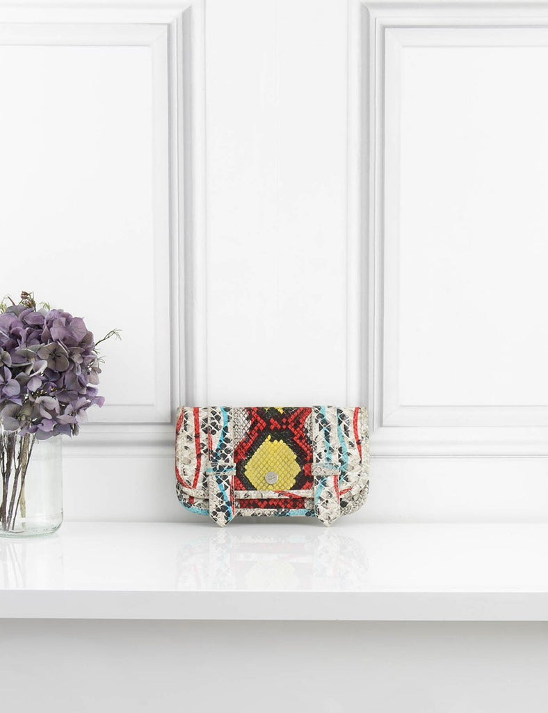 PROENZA SCHOULER ACCESSORIES Snakeskin ps1 wallet and clutch