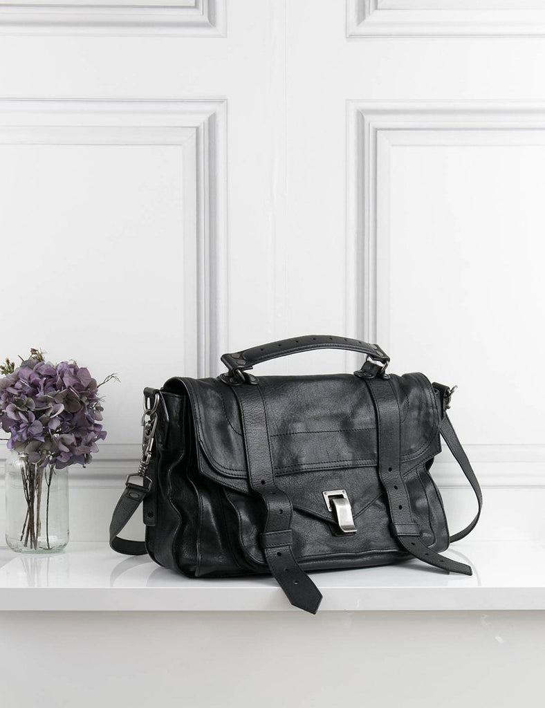 Proenza Schouler black PS1 satchel bag- My Wardrobe Mistakes