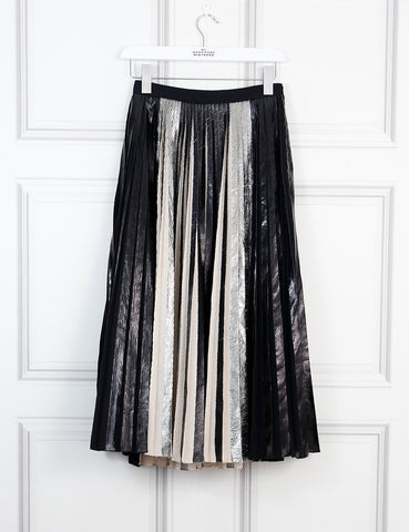 Proenza Schouler multicolour metallic pleated midi skirt 8Uk- My Wardrobe Mistakes