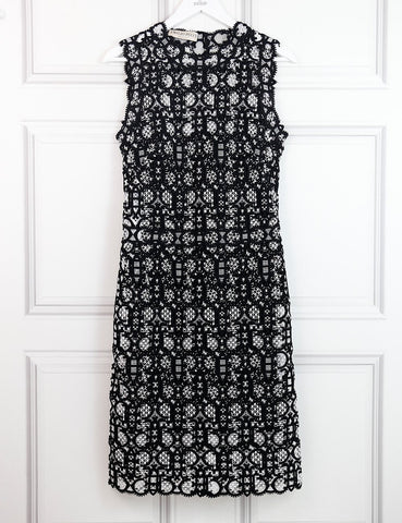 Pucci multicolour sleeveless fitted dress with lace motif 8UK- My Wardrobe Mistakes