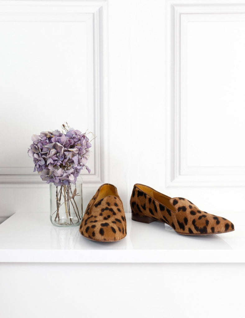 Ralph Lauren multicolour leopard print calf hair slippers 6Uk- My Wardrobe Mistakes