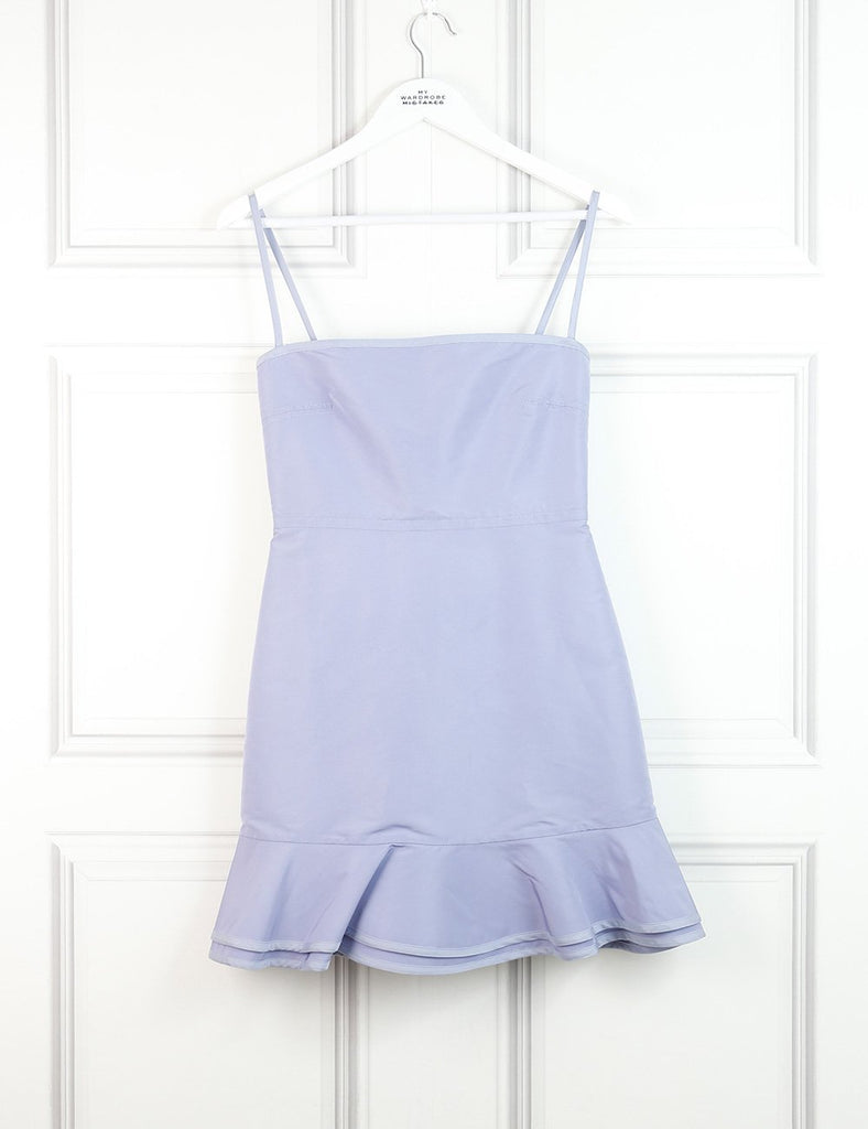 Red Valentino lavender spaghetti straps dress with frills at the back 8UK- My Wardrobe Mistakes