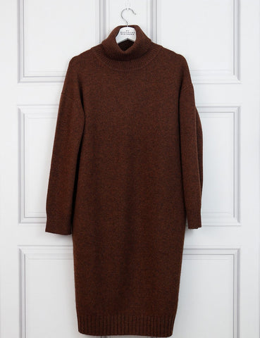 Rejina Pyo brown turtle neck midi dress 10Uk