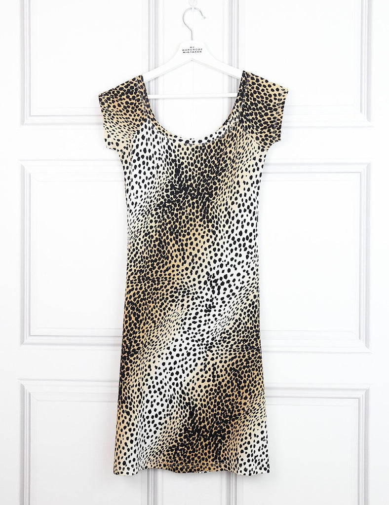 Roberto Cavalli leopard print fitted dress 10UK- My Wardrobe Mistakes
