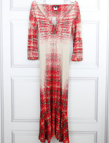 Roberto Cavalli multicolour long tartan dress 8UK- My Wardrobe Mistakes