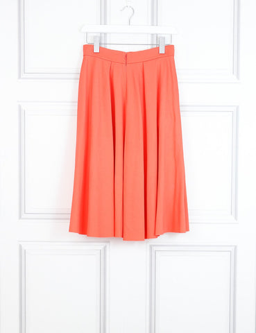 Roksanda orange A-line skirt with two pockets 10 Uk- My Wardrobe Mistakes