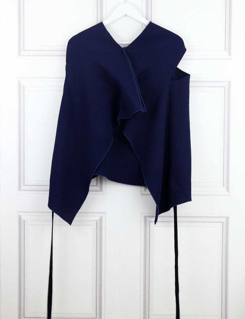 Roland Mouret blue sleeveless top 12UK- My Wardrobe Mistakes