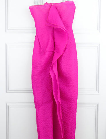 Roland Mouret pink full-length strapless dress 10UK- My Wardrobe Mistakes
