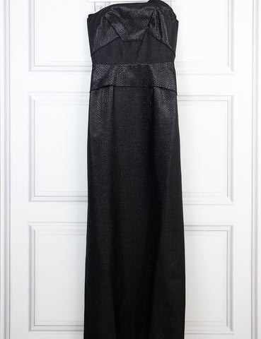Roland Mouret black strapless fitted gown 12 Uk- My Wardrobe Mistakes