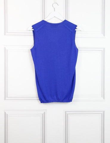 SAINT LAURENT Sleeveless V-neck top