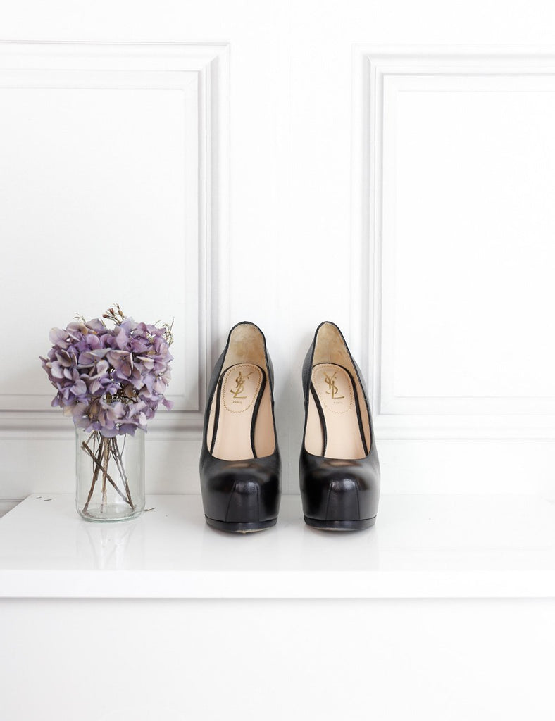 Saint Laurent black Tribtoo pumps in grained leather 6UK- My Wardrobe Mistakes