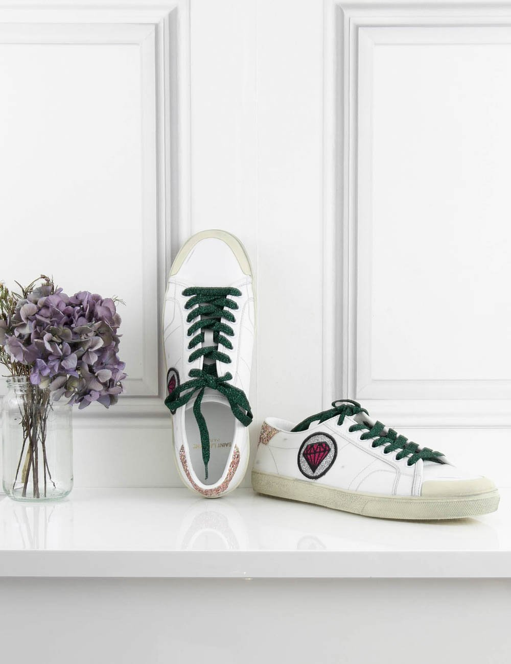 SAINT LAURENT Shoes Sneakers with diamond motif