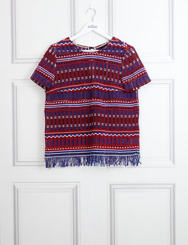 SALONI CLOTHING 8UK-40IT-36FR / Multicolour SALONI Marie fringe top