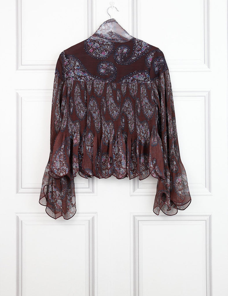 See by Chloe multicolour paisley print scalloped blouse 8UK- My Wardrobe Mistakes