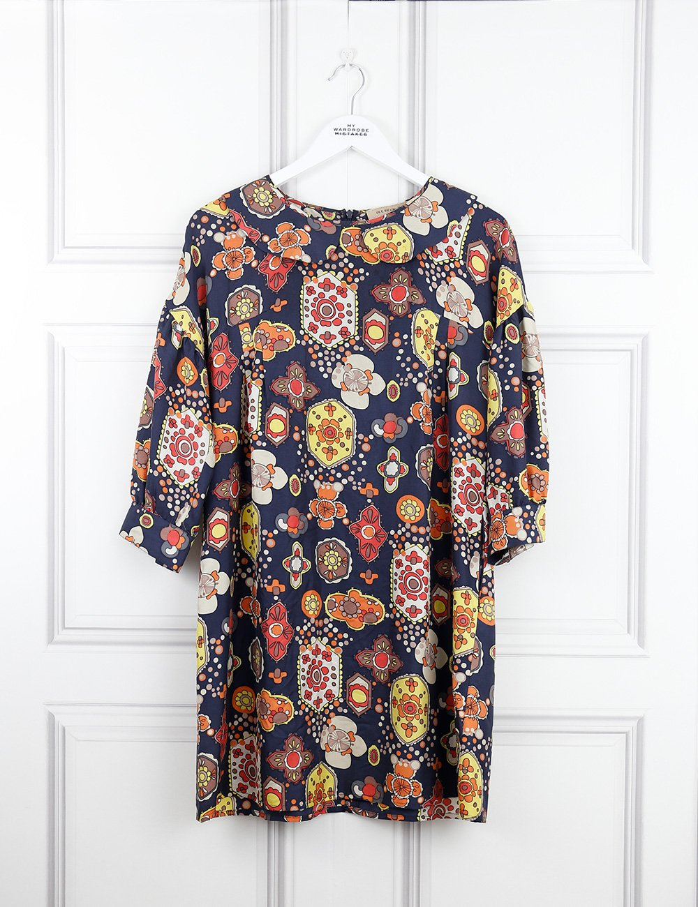 See by Chloe multicolour puff sleeved print dress 10UK- My Wardrobe Mistakes