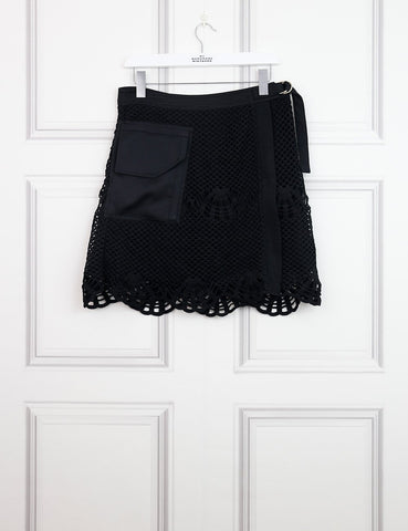 SELF-PORTRAIT CLOTHING 12UK-44IT-40FR / Black SELF-PORTRAIT Single pocket Mini skirt