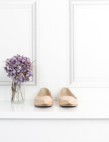 Sergio Rossi cream pointed toe flats 3UK- My Wardrobe Mistakes