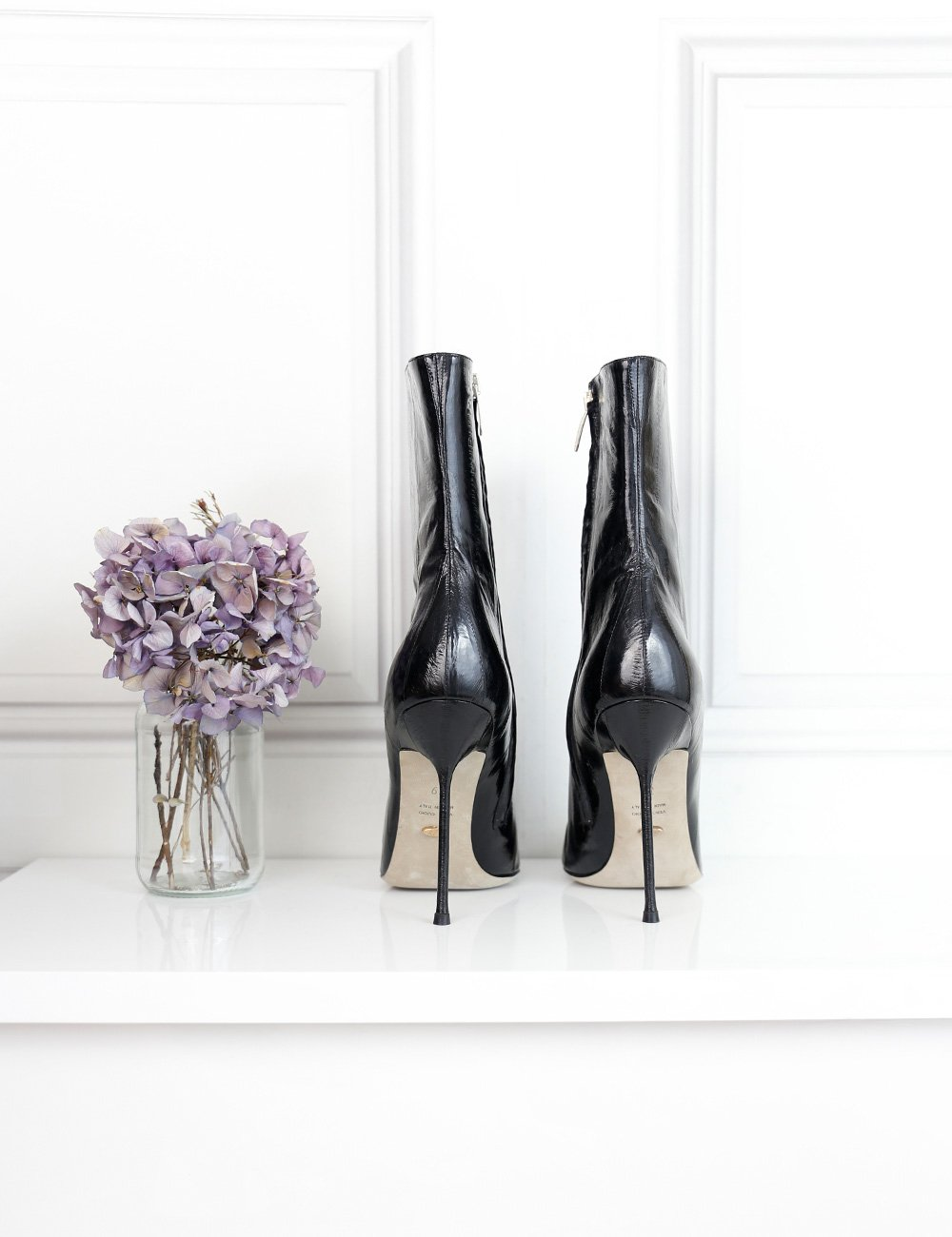 Sergio Rossi black pointed toe ankle bootie with stiletto heel 6 UK- My Wardrobe Mistakes