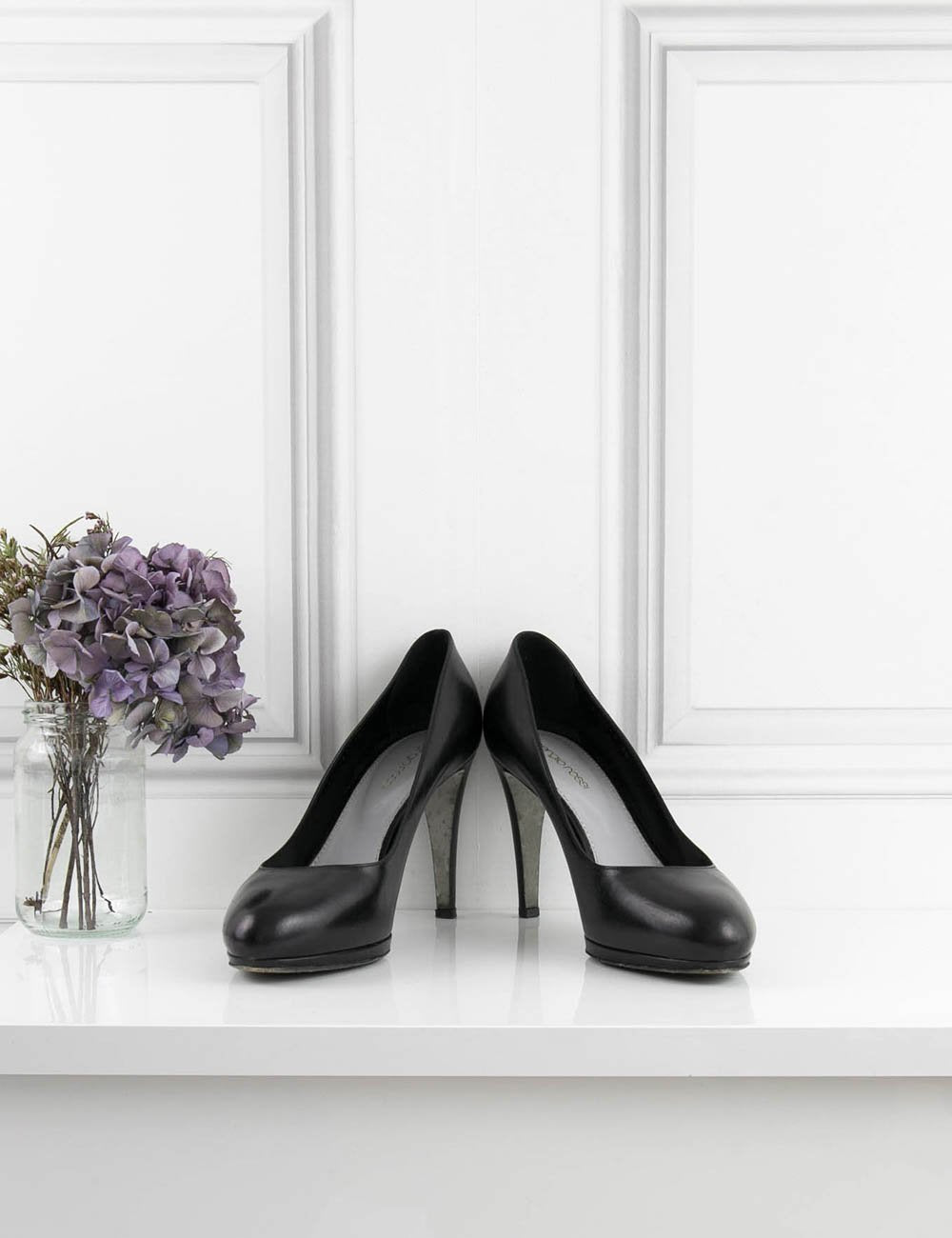 SERGIO ROSSI SHOES black Classic pump with platform 7UK- My Wardrobe Mistakes