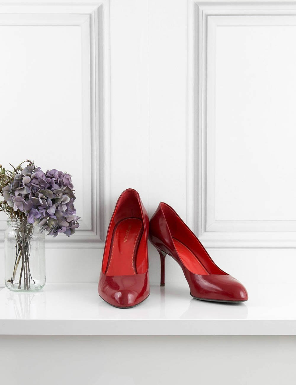 SERGIO ROSSI SHOES 'Madame' classic patent pump