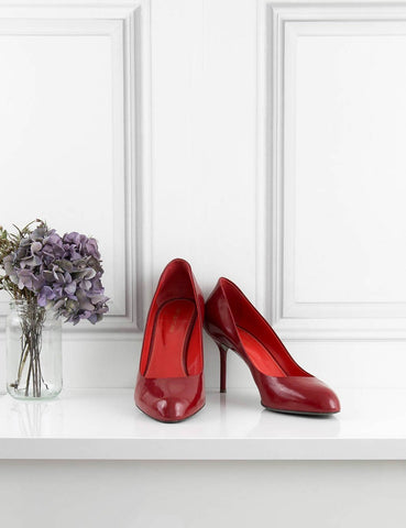 SERGIO ROSSI SHOES red 'Madame' classic patent pump 7Uk- My Wardrobe Mistakes