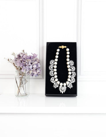 SHOUROUK ACCESSORIES One size / Multicolour SHOUROUK Pearls and crystals embellishment necklace