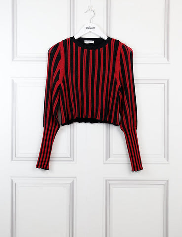 Sonia Rykiel red and black striped sparkle sweater 10Uk- My Wardrobe Mistakes