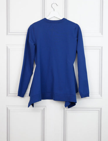 Sonia Rykiel blue long sleeves technical sweater 12 Uk