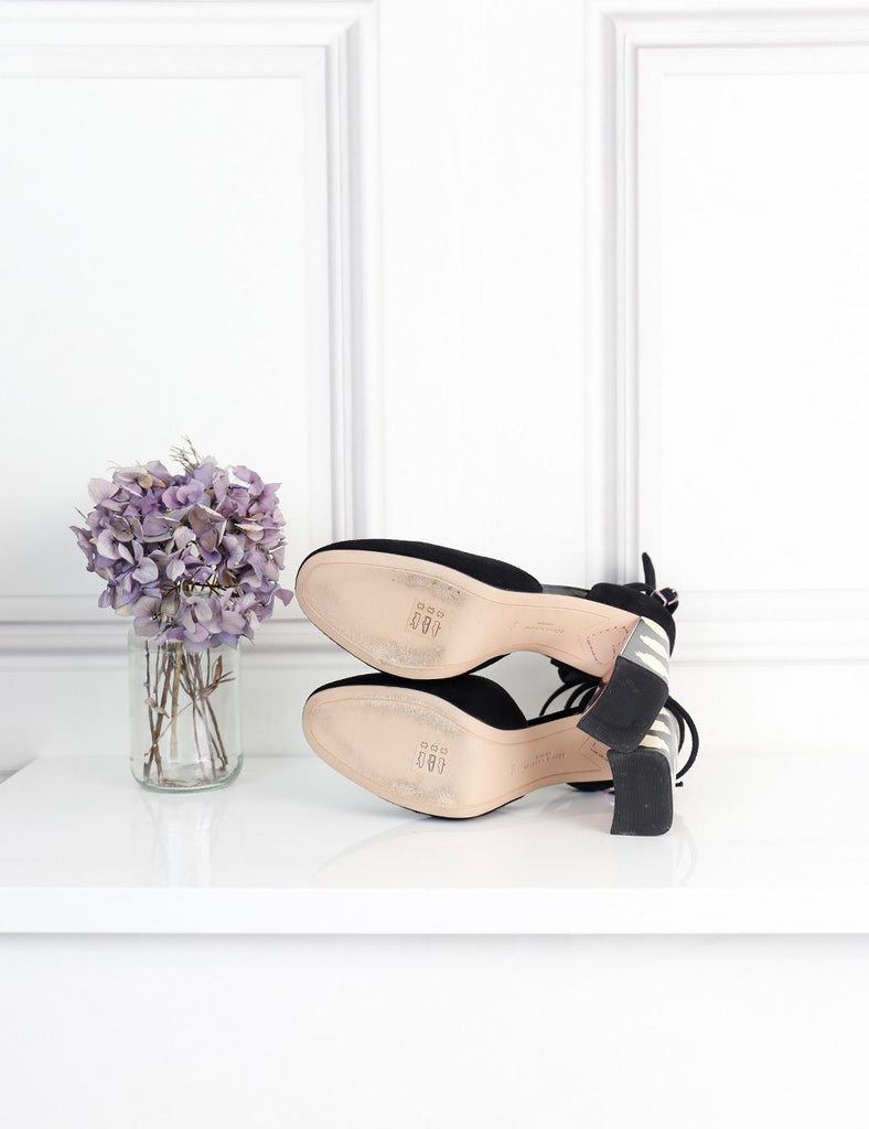 Sophia Webster black Stacey suede ankle strap pumps 5Uk- My Wardrobe Mistakes