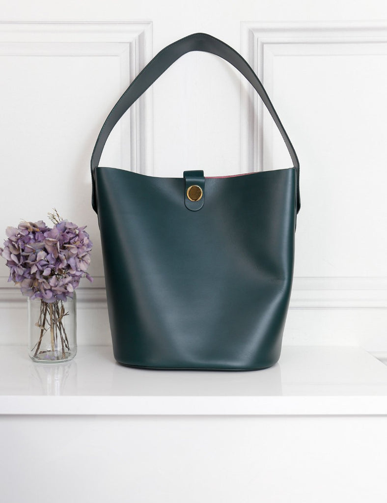 Sophie Hulme green swing bucket bag- my Wardrobe Mistakes