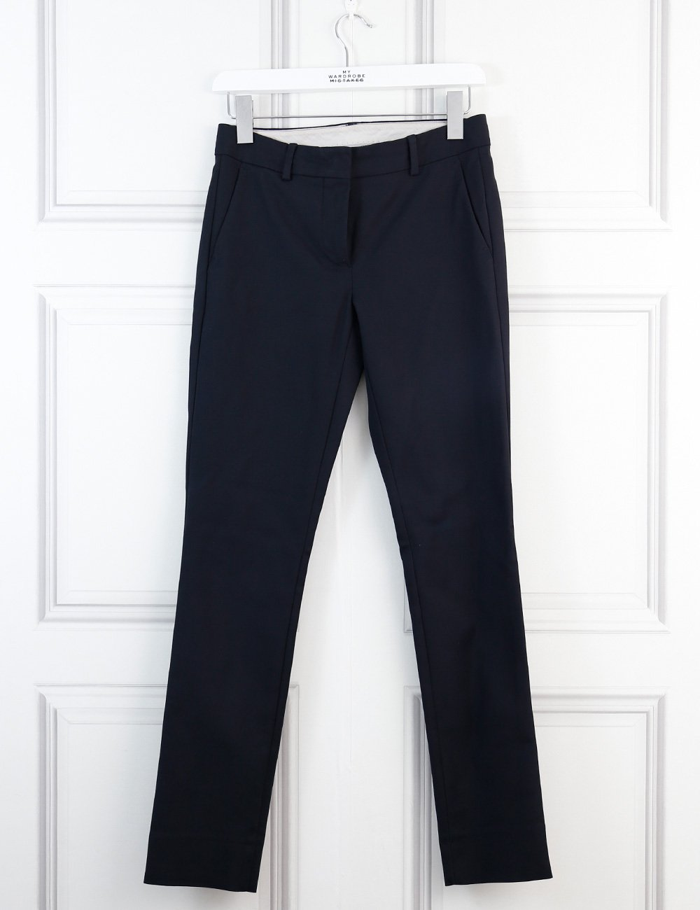 Sportmax black tailored trousers with side pockets 6Uk
