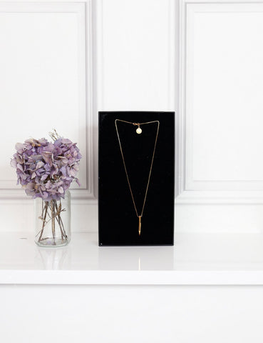 Stella McCartney gold-tone metallic pencil necklace-My Wardrobe Mistakes