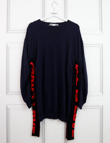 STELLA McCARTNEY CLOTHING 10UK-42IT-38FR / Multicolour STELLA McCARTNEY All-is-Love Woollen Oversized Sweater