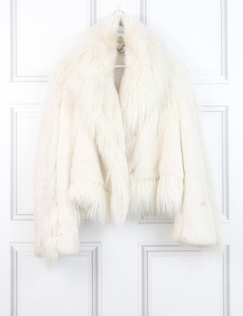 STELLA McCARTNEY CLOTHING 8UK-40IT-36FR / White STELLA McCARTNEY Faux fur jacket