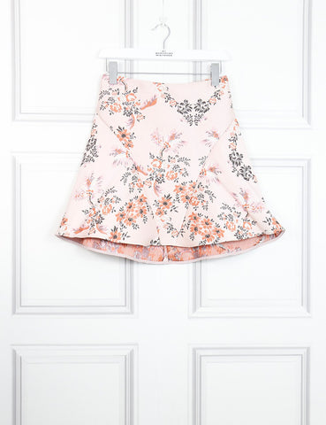 Stella McCartney pink mini skater skirt with embroideries 6UK- My Wardrobe Mistakes