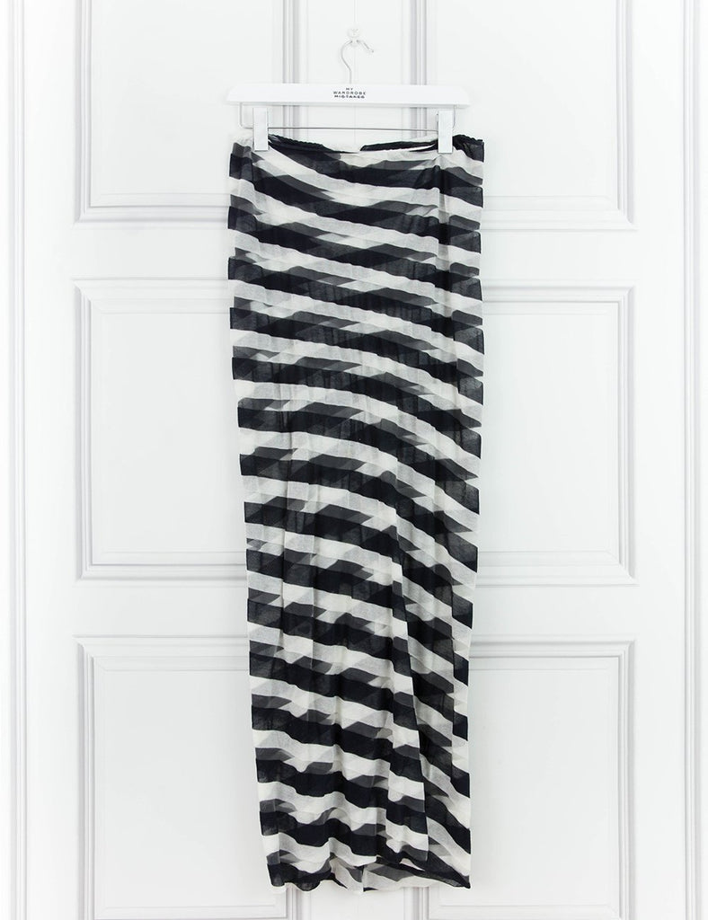 STELLA McCARTNEY CLOTHING Striped tubular geometric maxi skirt